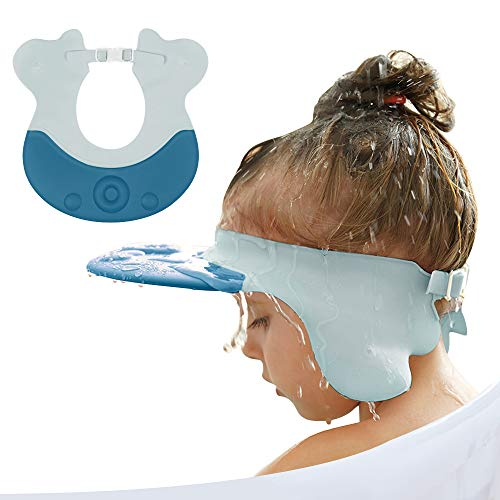 Baby Shower Hat Silicone Kids Bathing Hat for Shower, Baby Shampoo Cap for Toddler, Infants Soft Protection Funny Safety Octopus Visor Cap