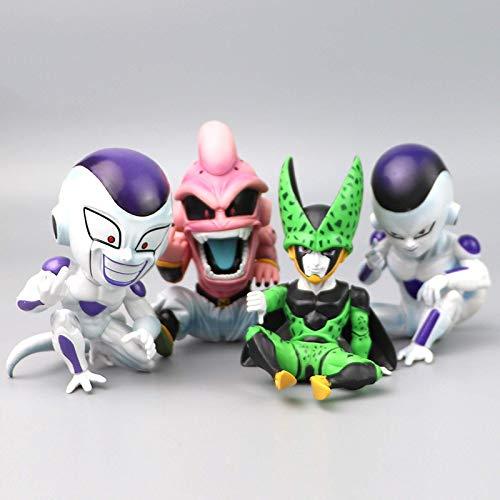 4 Unids / Set 12 Cm Anime Dragón De Dibujos Animados PVC Majin Buu Frieza Majin Boo Freeza Balls Z, Figuras De Acción Juguetes Colección Modelo De Muñeca