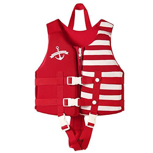 OldPAPA Kinder Schwimmweste, Schwimmende Badeanzug für Baby Kleinkind Kinder Schwimmanfänger Schwimmbad Strand Sommer Wassersport(Rot S)