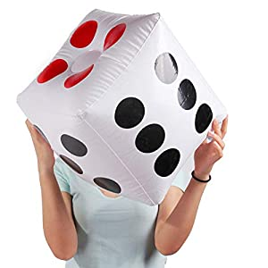 """Warmtree 13"""" Jumbo Inflatable Dice, Pack of 2 by Warmtree"""