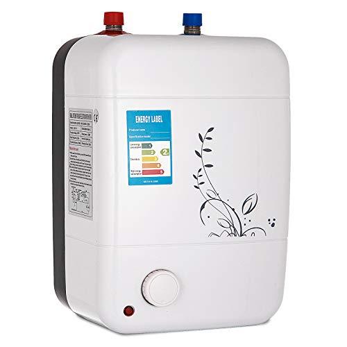 Frantools Termo Electrico 10 litros Calentador de Agua Electrico1500W 30-75 ° C Termo Electrico Agua Caliente para baño