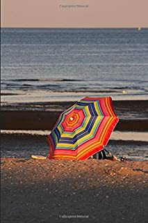 Beach Umbrella Journal: For Beach Lovers and Writers: Blank Lined Paper Notebook