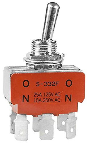 Nkk Switches Switch Toggle Dpdt 25A 125Vac - specialty shop S332F Deluxe