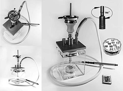 MTi products® | Shisha | Shisha Set | Wasserpfeife | Hookah 40cm | aus Acryl | Mit Ice Bazooka | (Rosa)