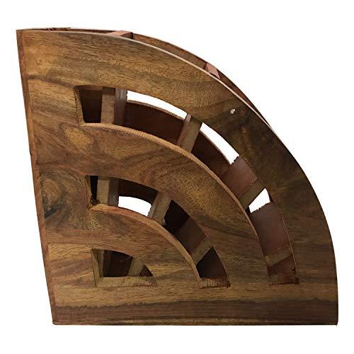 G & D Houten stijlvolle afstandsbediening voor televisietoestellen en wisselstroomafstandsbedieningen, houten handgemaakte multifunctionele opslagstand, afstandsbedieninghouder/staander/organisator/rek