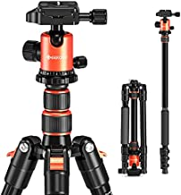 """GEEKOTO 58"""" DSLR Tripod, Compact Aluminum Alloy Lightweight Camera Tripod with 360 Degree Panorama Ball Head, Professional Camera Tripod for Travelling, Learning and Working"""