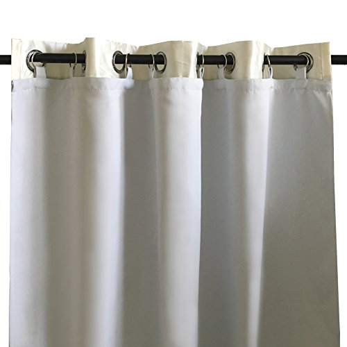 DriftAway Thermal Insulated Blackout Curtain Liner 2 Panels Each Liner Size 50 Inch by 80 Inch Rings Included