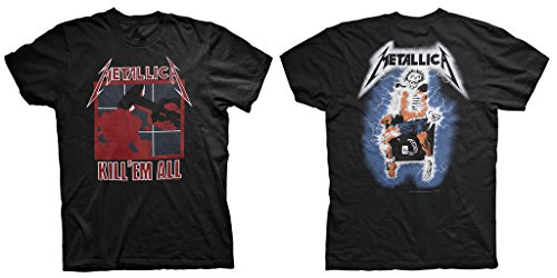 Metallica Kill 'Em All Heavy Thrash Metal Rock Oficial Camiseta para Hombre