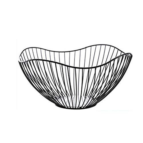 Fruit basket Plato de fruta, creativo y moderno, para sala de estar, estilo nórdico Ins, plato para aperitivos (tamaño C)