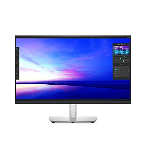 Dell P2721Q 27 Inch 4K FHD, IP Ultra-Thin Bezel Monitor, USB-C, HDMI, DisplayPort, VESA Certified, Silver, Gray