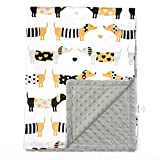 Baby Blanket for Boys Girls Baby Blankets Newborn,Super Soft Comfy,Patterned Minky with Double Layer,Dotted Backing, 30 x 40 Inch,Dogs