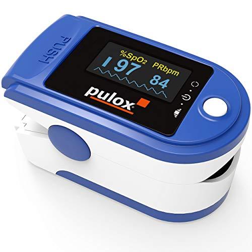 PULOX Pulsossimetro PO-200 saturimetro con Display a OLED e Accessori