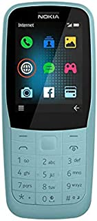 Nokia 220 Feature Phone, 4G, Dual SIM, 16 MB RAM - Blue