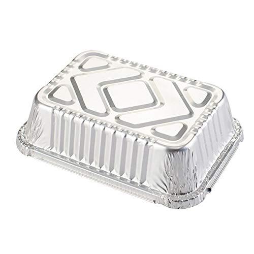 Tree-on-Life Caja de cartón de Lata para Barbacoa, Caja de Papel de Aluminio Rectangular, Fiambrera, Cuenco de Papel de Aluminio, Recipiente desechable para Llevar, Fiambrera para Llevar