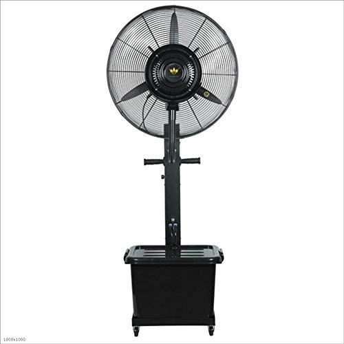 Fan Fan Spray Refrigeration Ventilador Industrial Outdoor 26 Pulgadas Ventilador de pie (Color : Negro, Tamaño : Diameter 75cm)