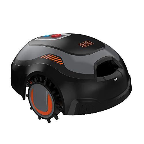 BLACK+DECKER BCRMW122-QW - Robot Rasaerba per Superfici Fino a 700 m², 12V 4.3Ah con Pulitore del Piatto di Taglio