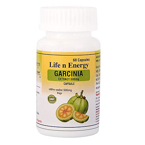 Life N Energy Garcinia Cambogia Extract High Potency 500 mg Fat Burner/Fast Weight Loss/Slimming Capsule for Women and Men (60 Capsules)