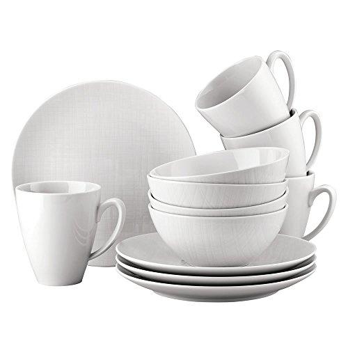 Rosenthal 11770-800001-29219 Set 12 Pièces, Porcelaine, Blanc, 32 x 31,7 x 28,1 cm