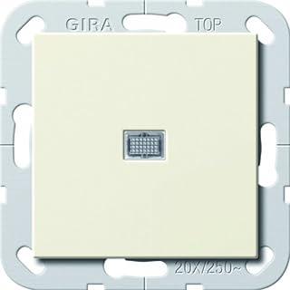 Gira 283401 Wippschalter Aus 2p Kontroll 20A System 55, cremeweiß