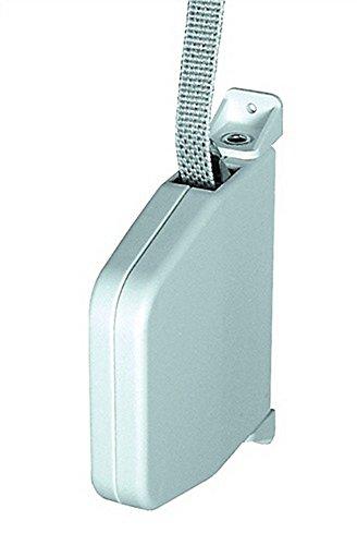 Gurtwickler Gurtlänge 5m Gurtbreite 14mm schwenkbar Gehäuse weiß Gurt grau