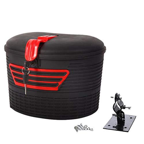 Shumo Aufbewahrung Korb für Elektro Roller Front mit Schloss für M365 Faltbarer Elektro Roller für Elektrisch Fahrrad