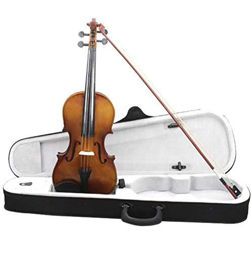 Violino 4/4 Violino Kit Strumento a 4 Corde Acustica Violino in Legno Massiccio con Custodia Rigida, Arco, per Il Professionista Che Gioca Test di Livello Amanti della Musica