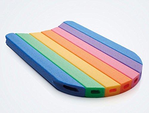 NMC Schwimmbrett Schwimmhilfe Kickboard Comfy Kick Board Bunt Regenbogenfarben 48x30x3cm