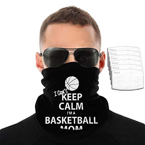 Can't Keep Calm I'm A Basketball Mom - Toalla para la cara, transpirable, resistente al viento, para hombres y mujeres