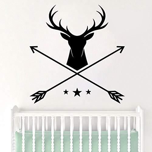mlpnko Hermosa Flecha Impermeable Etiqueta de la Pared decoración del hogar decoración Sala de Estar Dormitorio Fondo extraíble Arte de la Pared calcomanía 42x43cm