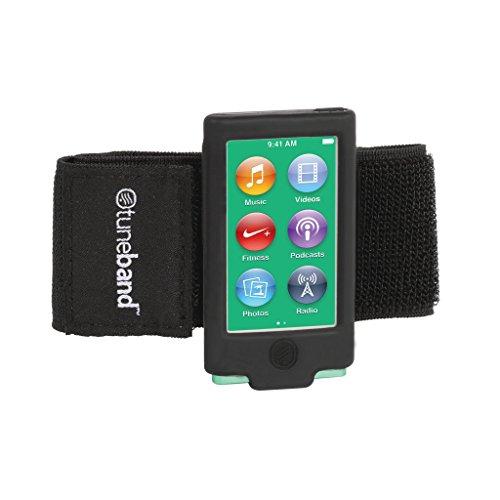 TuneBand Sportarmband für iPod Nano 7. Generation / 8. Generation (Modell A1446, 16 GB), mit Zwei Gurten und Zwei Displayschutzfolien, Schwarz