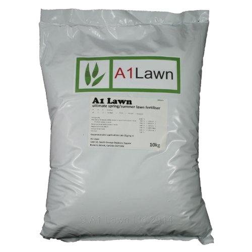 A1 Lawn, Ultimate Spring and Summer Lawn Fertiliser, 10kg
