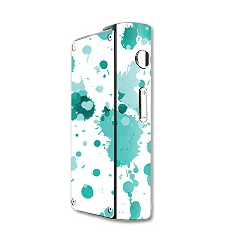 MightySkins Skin Compatible with Laisimo S3 200W TC mod Skins Sticker Vape Teal Drops