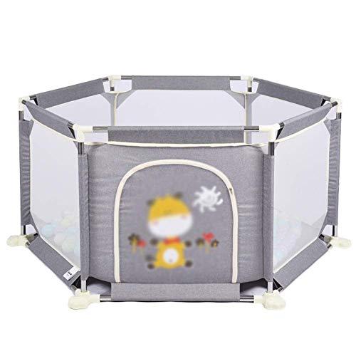 WJSW Séparateur de pièce portatif pour barrière de sécurité pour Enfants de Parc pour bébé, Stylo pour Jouer Individuellement au Centre d'activité pour Enfants (Couleur: Gris)