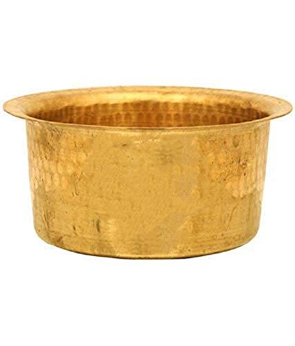 spacetouch Brass Patila Tope Topia Bhaguna Runde Patila Kapazität 4 Liter Messing Tope Pfanne & Topf