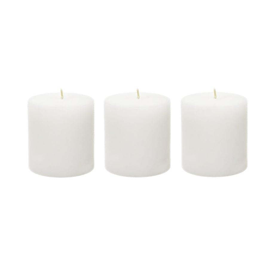 望まない階段復活(6, 7.6cm x 7.6cm Round) - Mega Candles - Unscented 7.6cm x 7.6cm Hand Poured Round Premium Pillar Candle - White