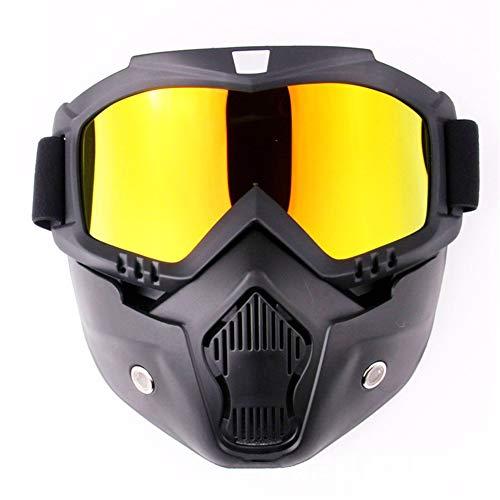 Motorradbrille für Brillenträger Abnehmbar Maske Helm Schutzbrille Arbeitsschutzbrille Augenschutzbrille Staubdicht Anti Fog Vollsichtbrille Überbrille Schleifbrille Erwachsene Kinder (Imitation Rot)
