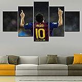 CXDM Druck auf Leinwand Sport Lionel Messi Bild Poster