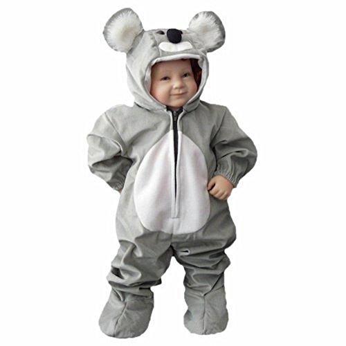 Ikumaal Koala-Bär Kostüm, J42 Gr. 68-74, für Klein-Kinder, Babies, Koala-Kostüme Koalas Kinder-Kostüme Fasching Karneval, Kinder-Karnevalskostüme, Kinder-Faschingskostüme, Geburtstags-Geschenk