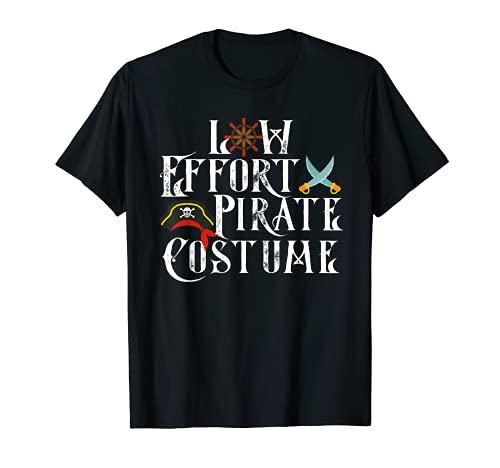 Disfraz de Pirata de Bajo Esfuerzo Disfraz de Halloween Camiseta