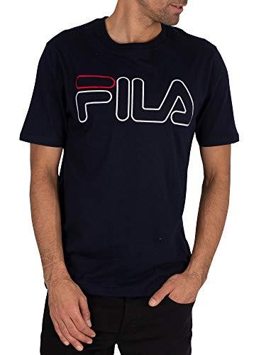Fila de los Hombres Camiseta Borough, Azul, M