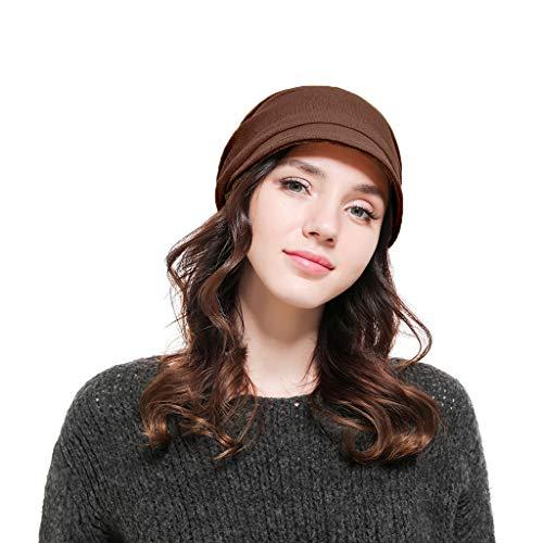 ZZBO Mütze Beanie Herren Damen Wintermütze Mützen Long Slouch Cap Sleeve Mode Cosy Schirmmütze Warm Halten Turban Hut Feinstrick Headgear