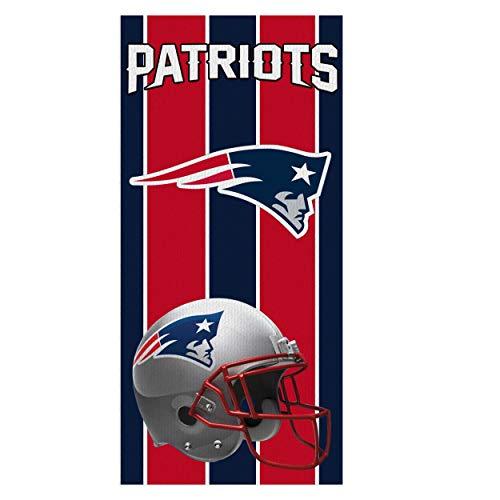 Meelife NFL Beach Towel, Fans Fiber Bath Towel Beach Towel Soft Sweat Absorbent Towels 28' x 55' with Classic Team Logo, Multi Color (Patriots)