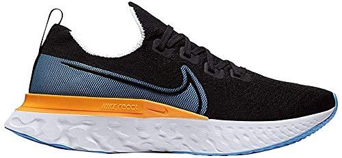 Nike React Infinity Run Flyknit, Zapatillas para Correr Hombre, Nero Black University Blue Laser Orange White, 42 EU