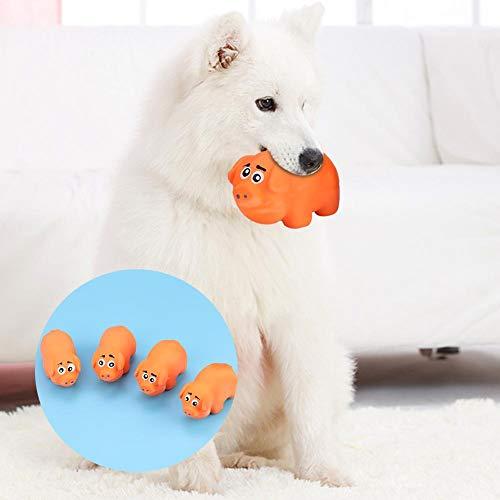 Huisdier kauwen speelgoed, 4 stks zachte niet-giftig klinkende tanden cleaning guard bijten slijpen speelgoed voor hond kat puppy kitten