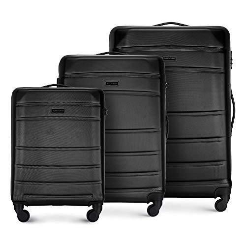 WITTCHEN Koffer – Set of 3 | hartschalen, Material: ABS | hochwertiger und Stabiler | Schwarz |...