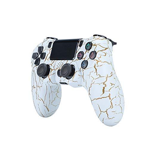 JVASX Wireless Controller für PS4 Slim/PS4 Pro,USB Controller für PC,Bluetooth Gamepad mit Dual-Vibration Audiofunktionen Playstation Controller Joystick - Crackle Style,A