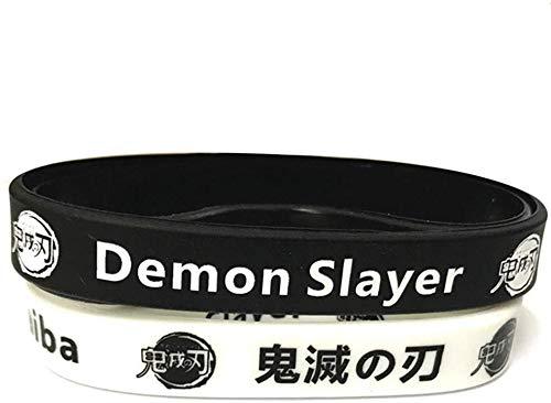 GOTH Perhk 2 Packungen Anime Demon Slayer Kimetsu No Yaiba Silikon Armband Ball Armband Anime Manga Fans Geschenk - Stil 1