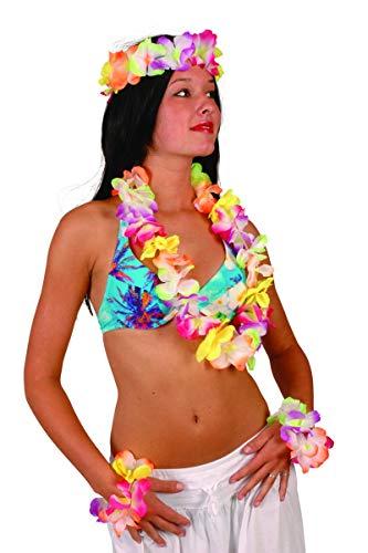 Collier fleur hawaïenne mis coloré