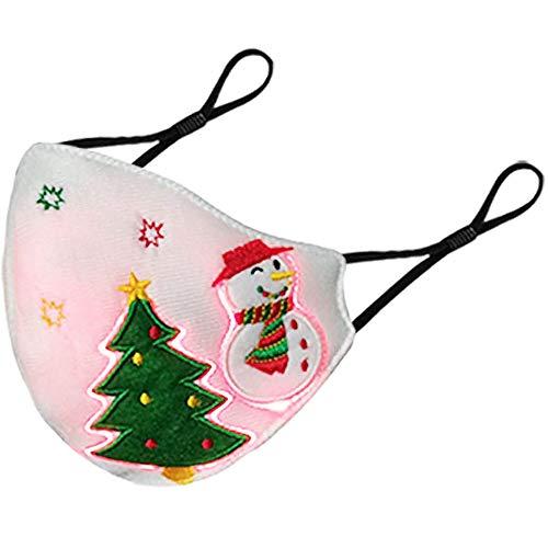 Máscara LED Rave Light Up Navidad Máscaras Luminosas Fibra óptica Tela Luminosa