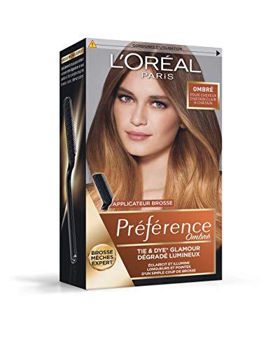 L'Oréal Paris Préférence Ombré Tie & Dye Glamour Cheveux Châtain Clair (N°1)